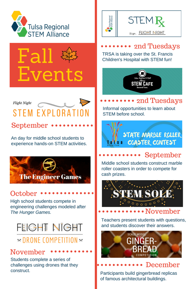 Image of all of TRSA's fall events for 2017. PDF version available in link above.