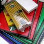 Spiral notebooks and pencils