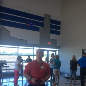 Teacher flies drone at TCC