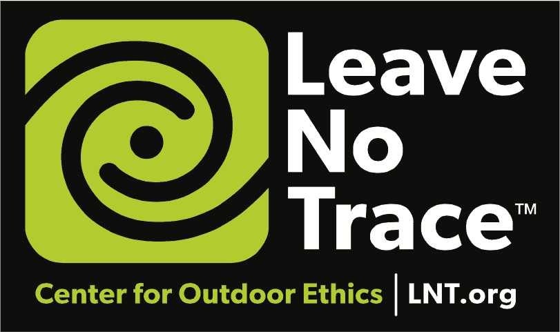 Leave No Trace Center for Outdoor Ethics logo; LNT.org