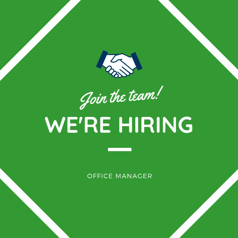 Join the team! We're hiring: Office Manager