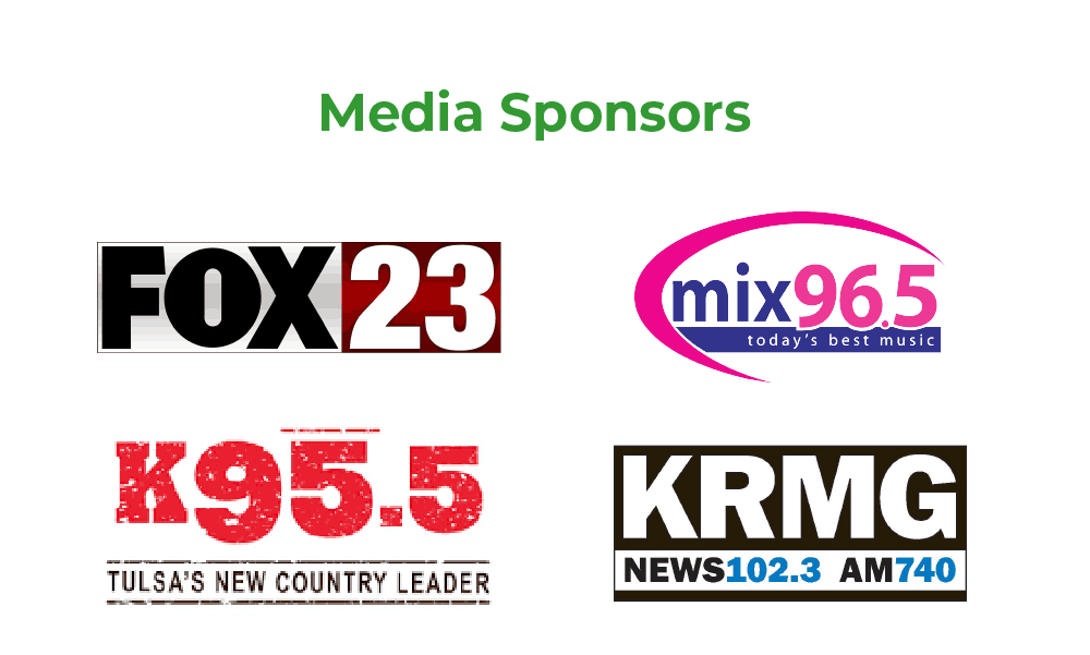 Media Sponsors: Fox 23, Mix 96.5, K95.5, and KRMG