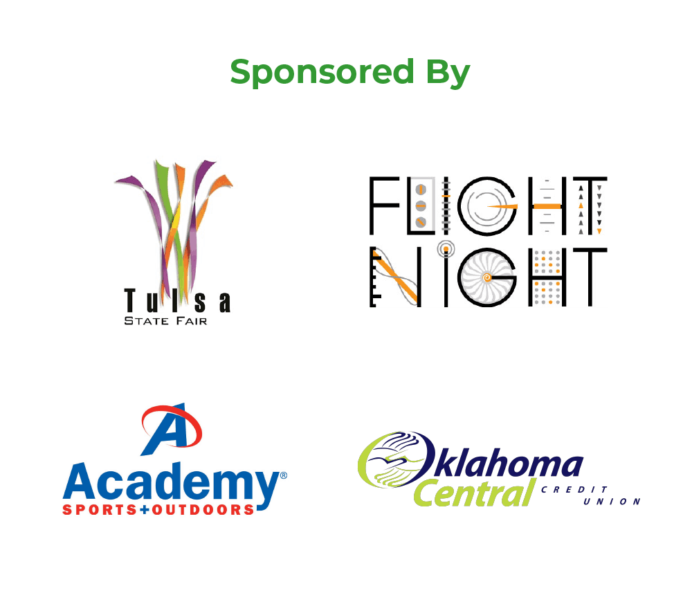 Sponsored by the Tulsa State Fair, Flight Night, Academy Sports and Outdoors, and Oklahoma Central Credit Union