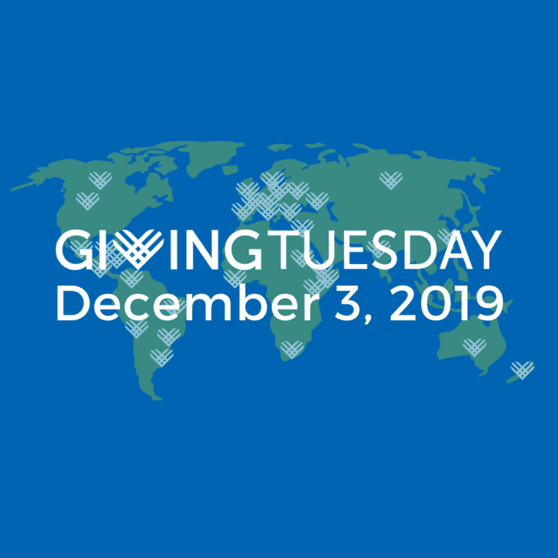 Giving Tuesday; December 3, 2019